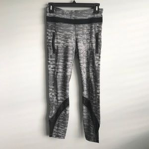 Lululemon Run Inspire Crop Heathered Gray Leggings